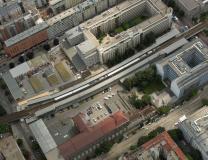 Luftbild Schnellbahnstation Traisengasse