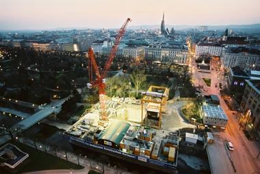 Startschacht Stadtpark mit Baustelleneinrichtung