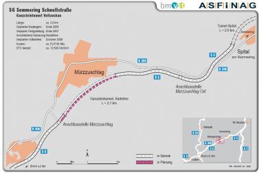 Übersichtskarte Ganzsteintunnel Vollausbau