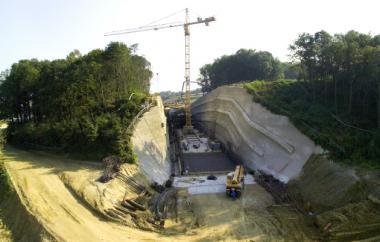 Tunnel Hankenfeld im Einschnittsbereich